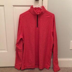 Lululemon Surge Warm 1/2 zip heathered pullover L